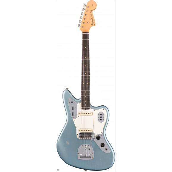 Fender Custom Shop Fender 1963 Journeyman Relic Jaguar, Rosewood Fingerboard, Aged Ice Blue Metallic