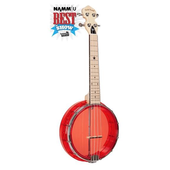 Gold Tone - Little Gem Transparent Banjo Ukulele - Red