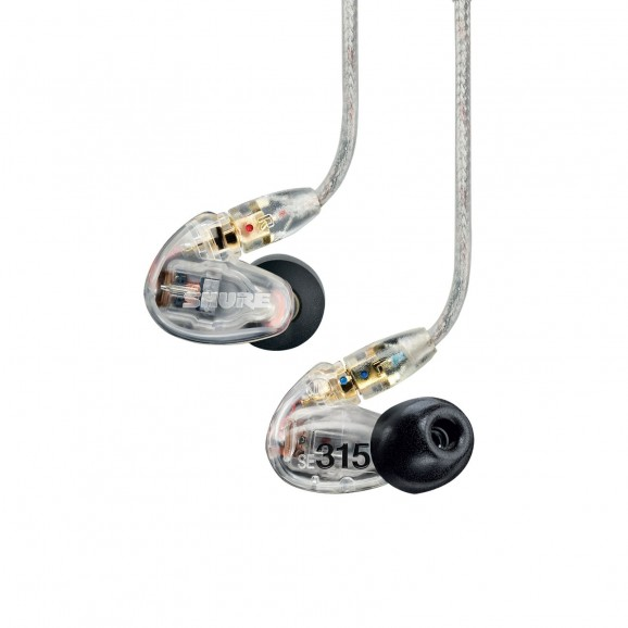 SE315 Sound Isolating In Ear Headphones - Clear