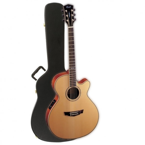Cort SFXE-NS Acoustic Electric Guitar + Hard Case