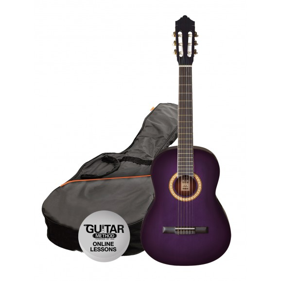 Ashton CG44 Nylon String Guitar Pack Purple