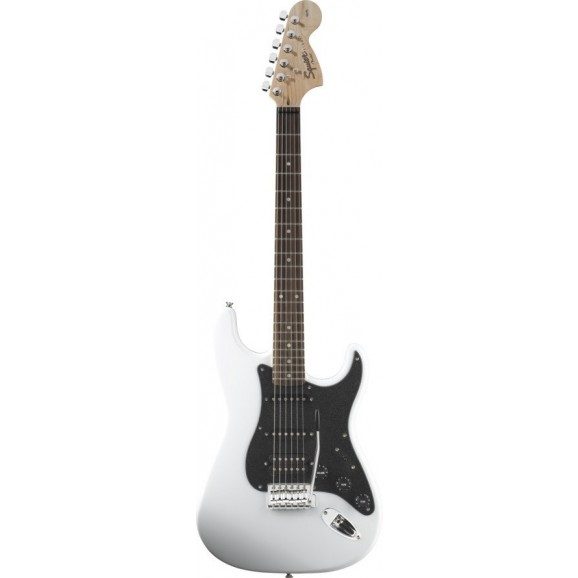 Fender Squier Affinity Series FAT Strat Electric Guitar HSS RW in Olympic White