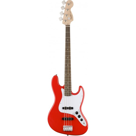 Fender Squier Affinity Series Jazz Bass Guitar in Race Red
