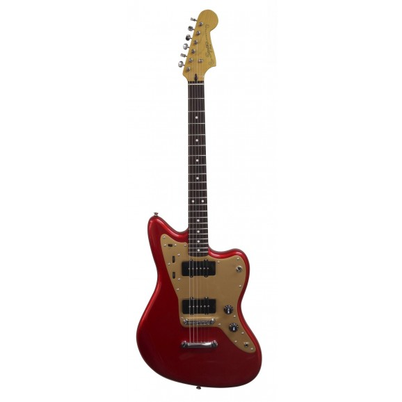 Squier Deluxe Jazzmaster Candy Apple Red w/ trem
