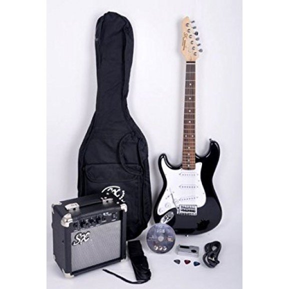 3/4 Electric Guitar Pack (black) Left Hand