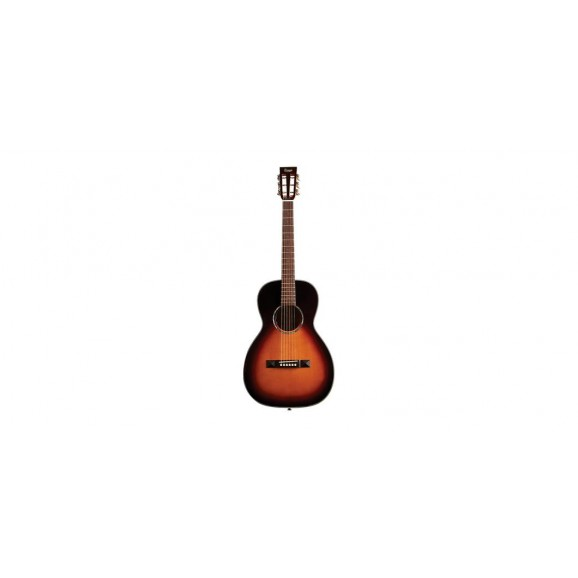 Tasman TA100P-E Parlour Acoustic Electric Guitar with Case