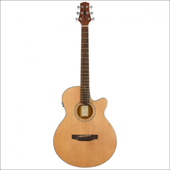 Ashton TK45SCEQ  Solid Acoustic Electric Guitar