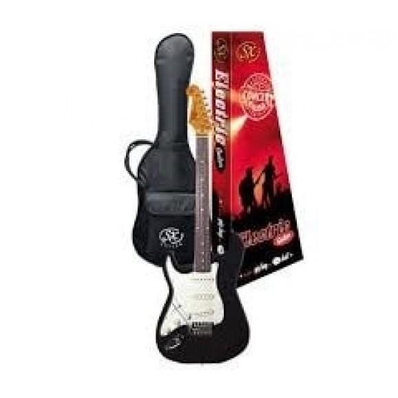 SX Vintage style SC electric guitar Left Handed - Black