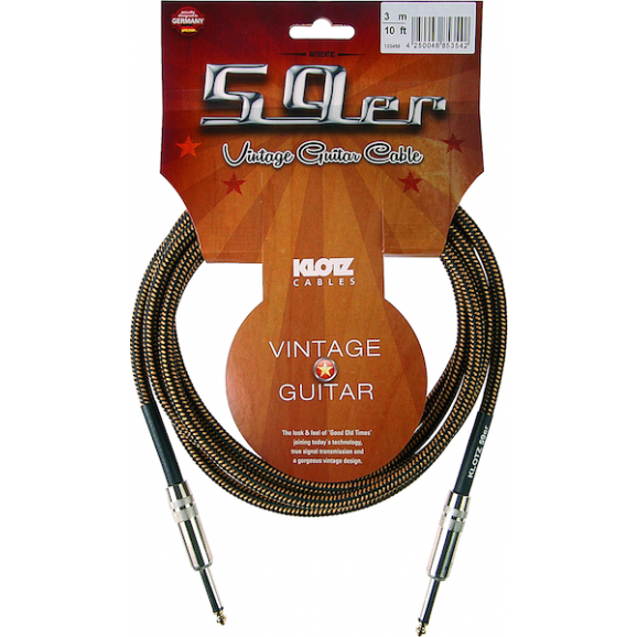 Klotz 59er Vintage Series Tweed 20ft Guitar Lead