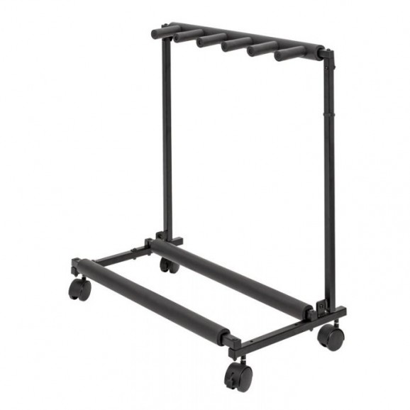 5 Way Rack Guitar Stand with Wheels