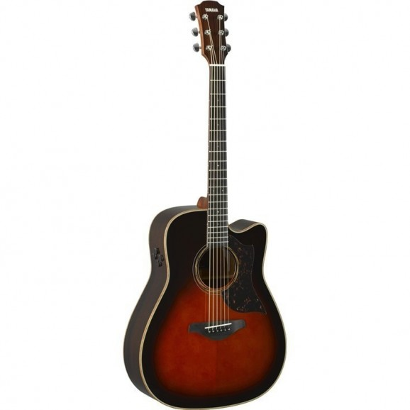 Yamaha A3R Acoustic / Electric Guitar in Brown Sunburst