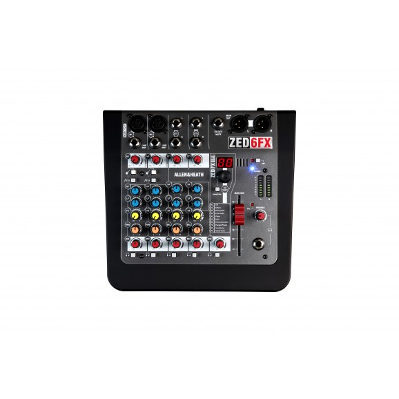 ZED-6FX Compact 6 Input Analogue Mixer With Effects