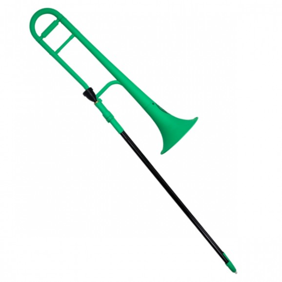 ZO Plastic Trombone in Screaming Green